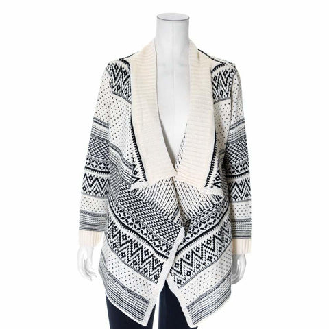 Plus Size Shawl Neck Chunky Cardigan