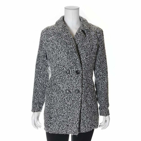Plus Size Boucle Tweed Car Coat