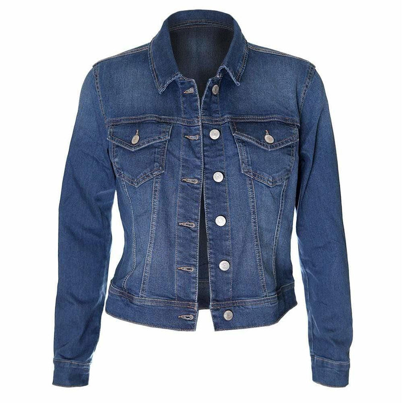 Plus Size Jean Jacket, Medium Wash