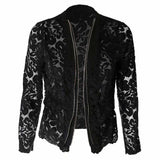 Collarless Lace Jacket