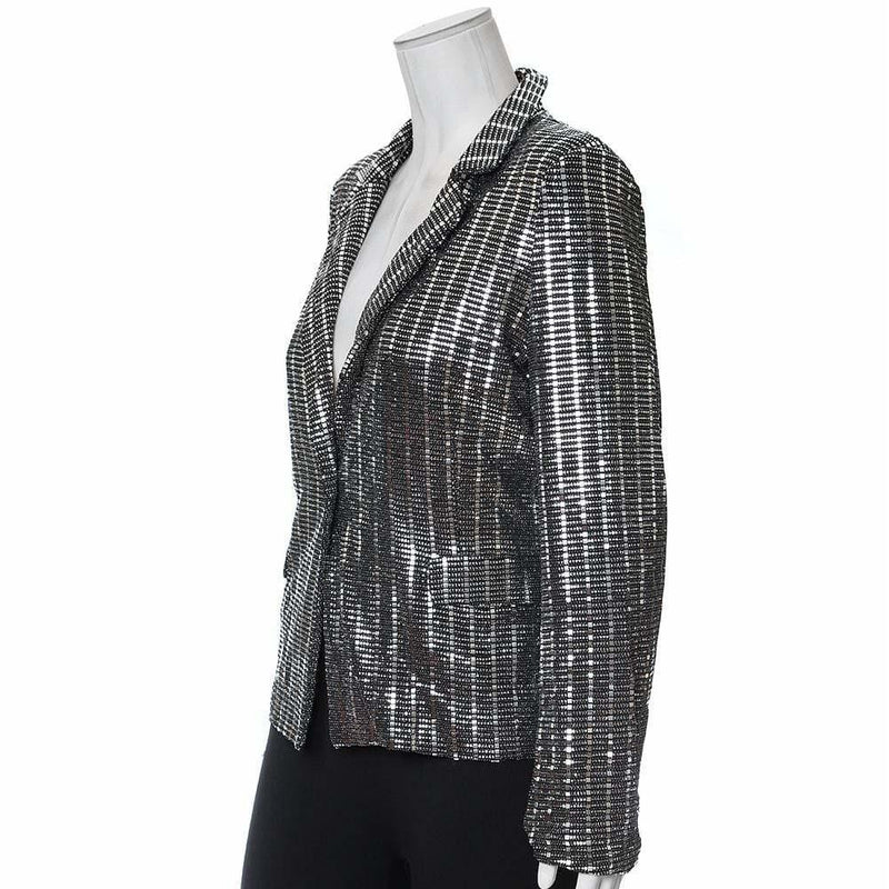 Plus Size Platinum Sequin Blazer