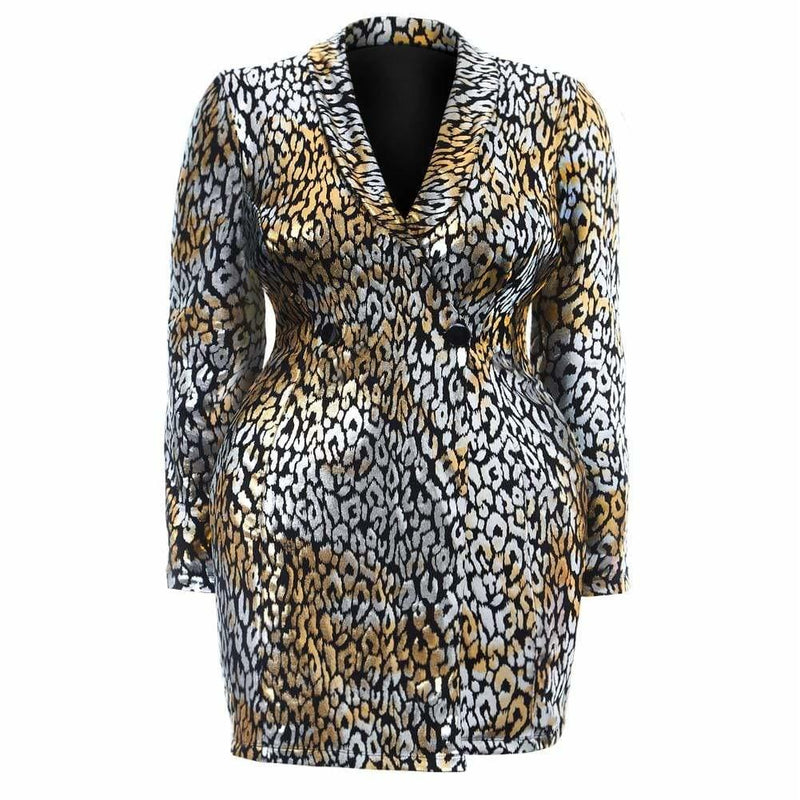 Plus Size Ombre Animal Print Slip Dress