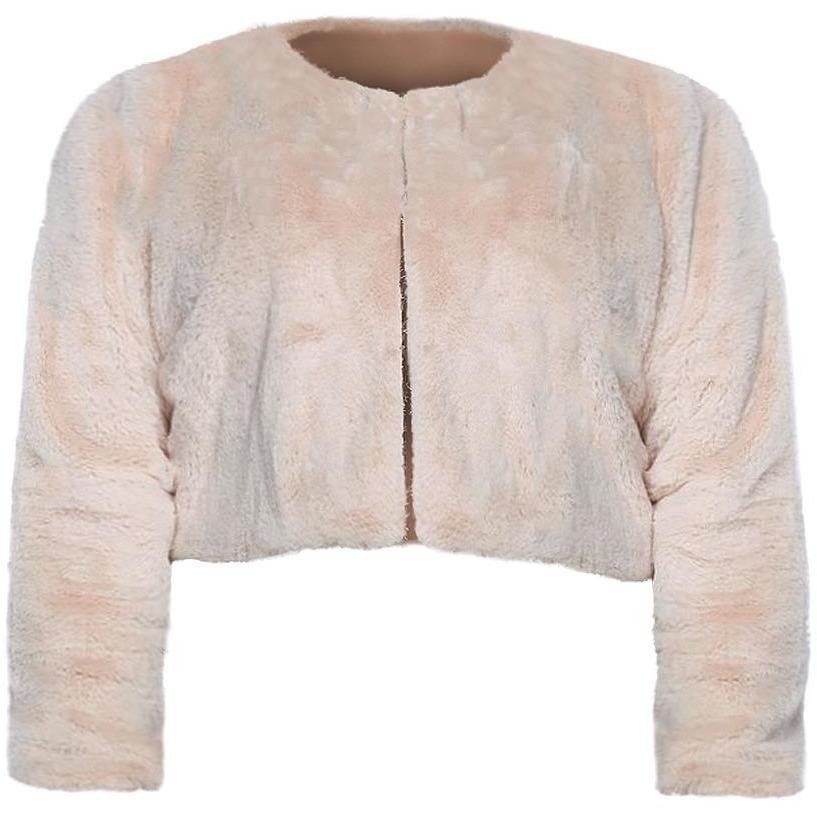 Posh Shoppe: Plus Size Cropped Faux Fur Jacket Outerwear