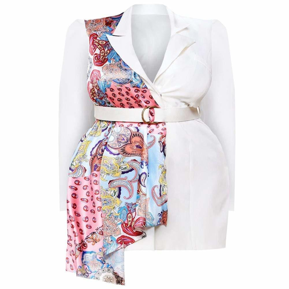 Posh Shoppe: Plus Size Scarf Shawl Belted Blazer Outerwear