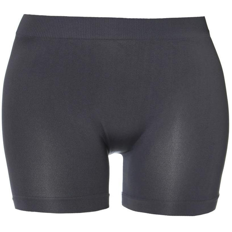 Plus Size Opaque Shorts, Charcoal Gray