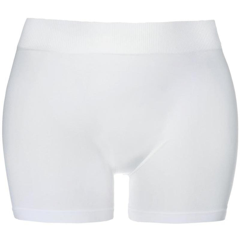 Posh Shoppe: Plus Size Seamless Opaque Shorts, White Bottoms