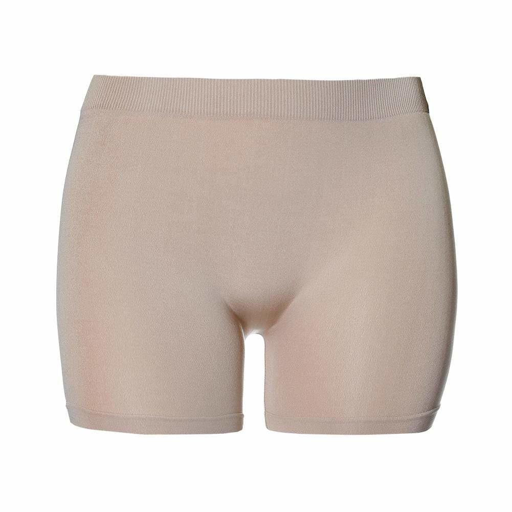 Posh Shoppe: Plus Size Seamless Opaque Shorts, Nude Bottoms