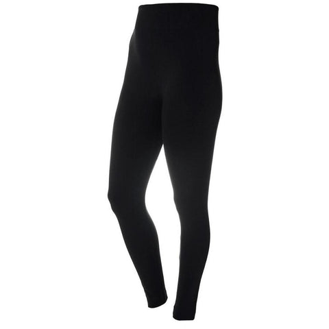 Plus Size Opaque Full Length Leggings, Black