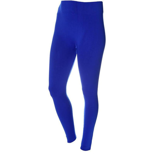 Posh Shoppe: Plus Size Fleece Lined Leggings, Cobalt Bottoms