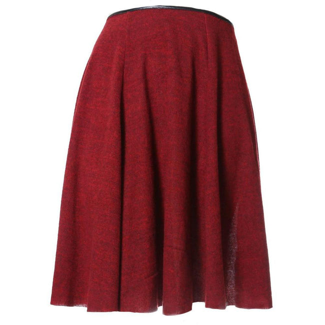 Posh Shoppe: Plus Size Felt Circle Skirt, Burgundy Bottoms