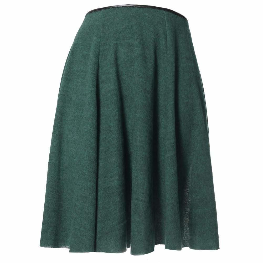 Posh Shoppe: Plus Size Felt Circle Skirt, Moss Bottoms