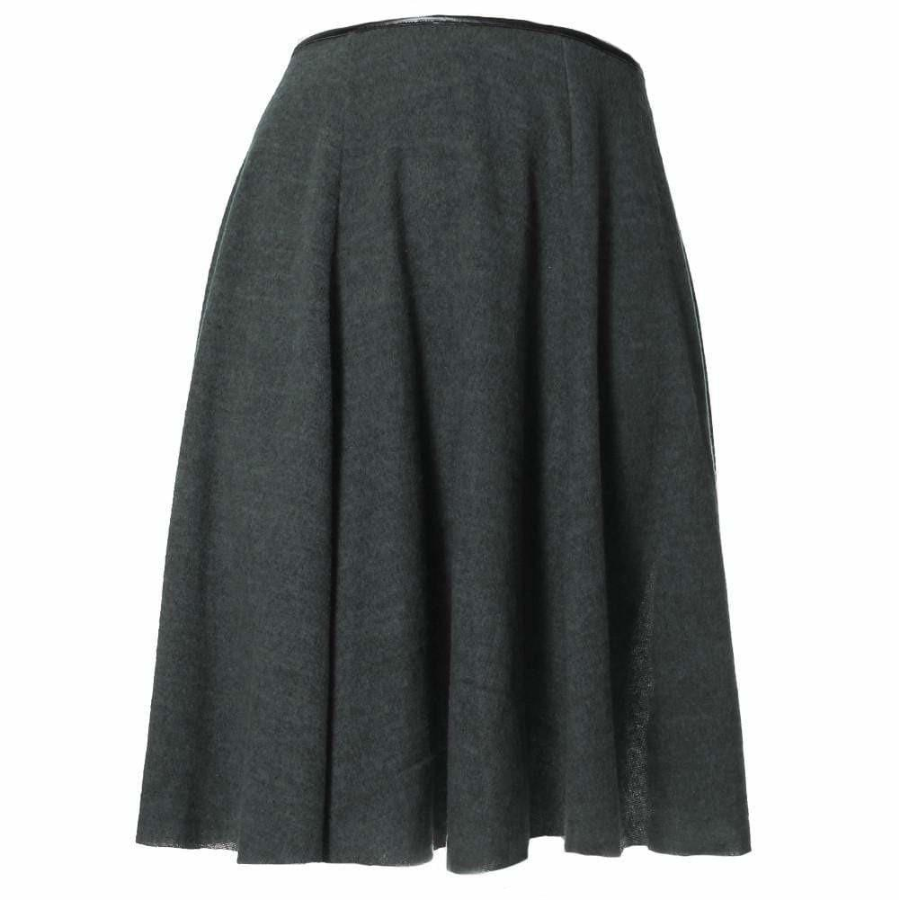 Posh Shoppe: Plus Size Felt Circle Skirt, Heather Gray Bottoms