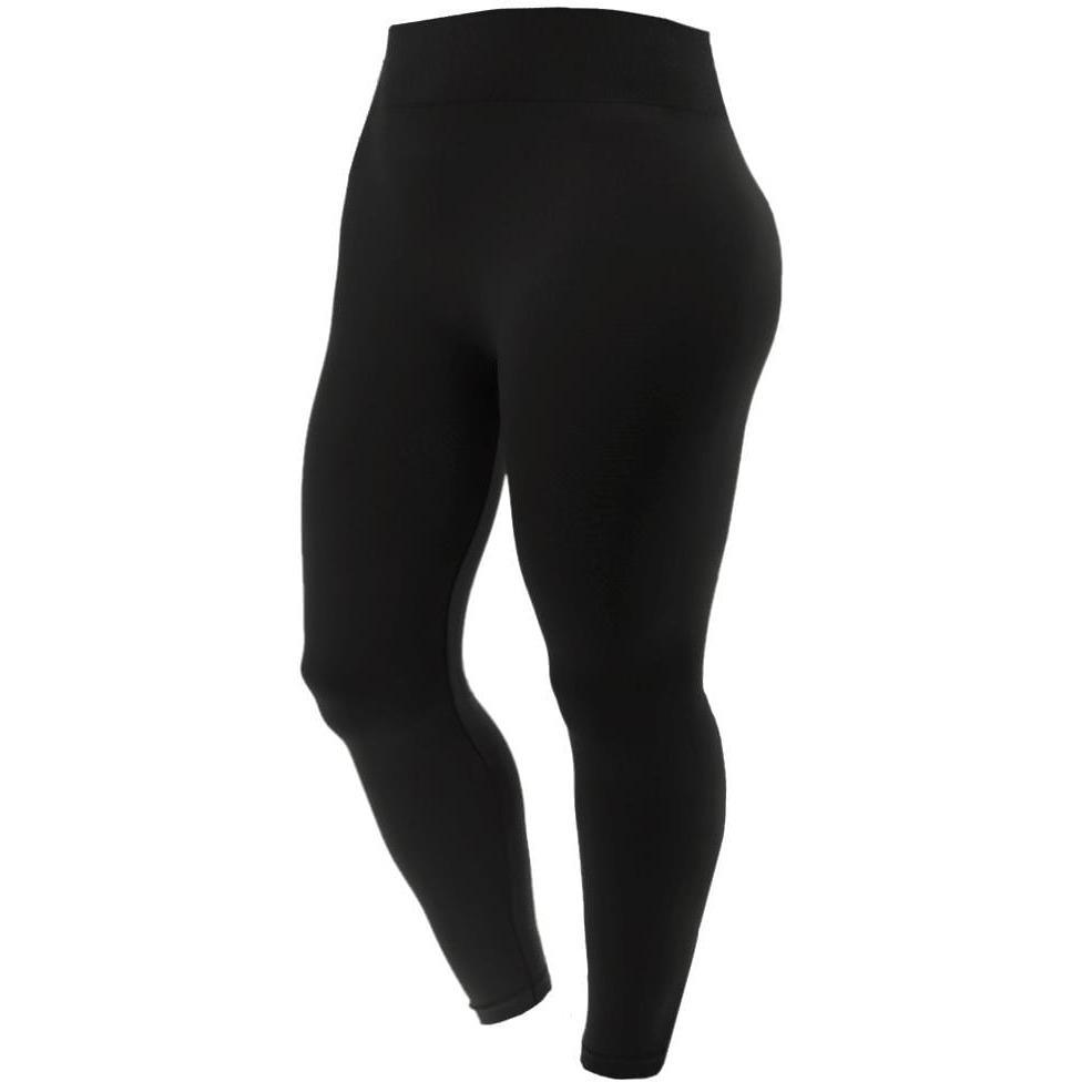 Posh Shoppe: Plus Size Seamless Opaque Full Length Leggings, Black Bottoms