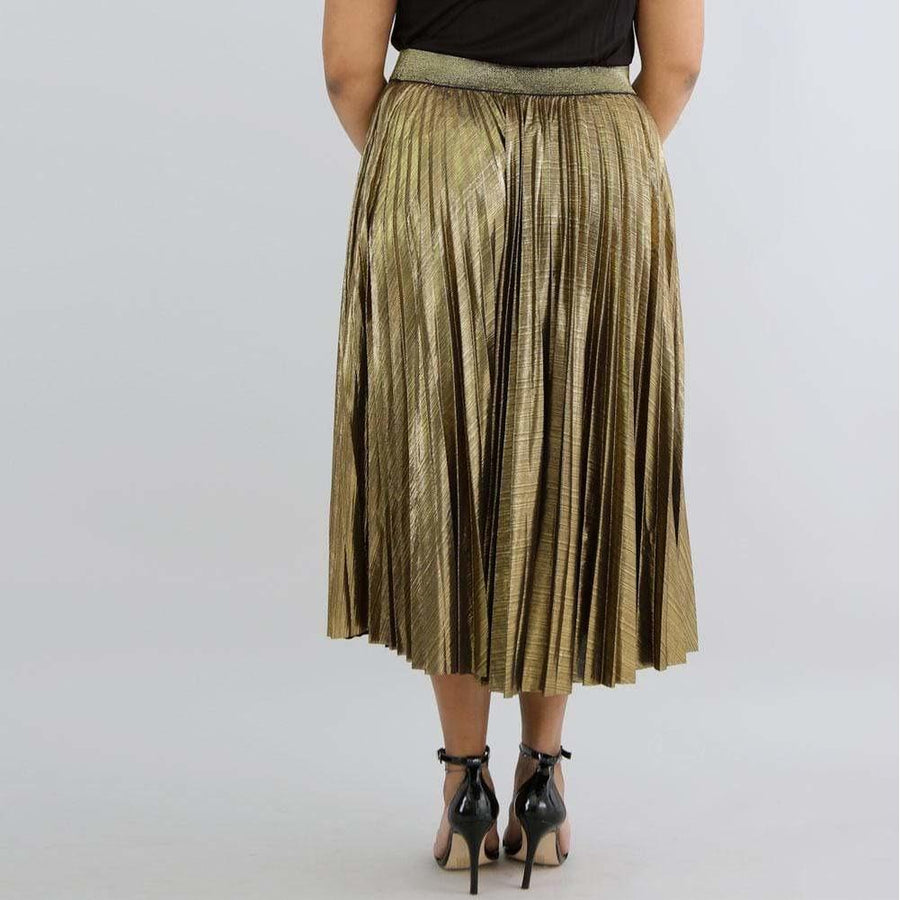 6e1cf7101 Plus Size Pleated Midi Skirt
