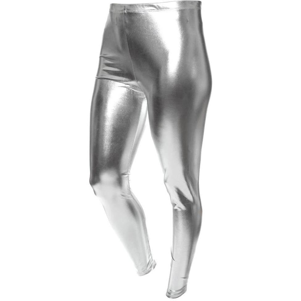 Posh Shoppe: Plus Size Silver Leggings Bottoms