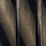 Posh Shoppe: Plus Size Pleated Metallic Maxi Skirt, Black and Gold Bottoms