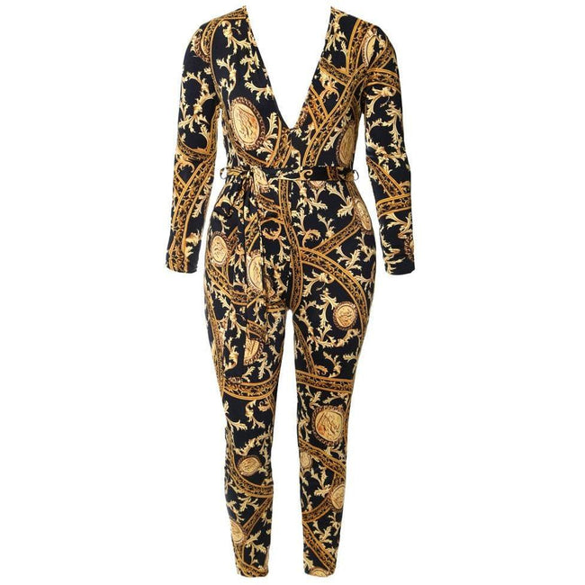 Plus Size Chain Print Bodysuit