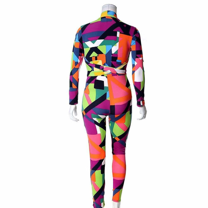 Plus Size Multi-way Scarf Bodysuit