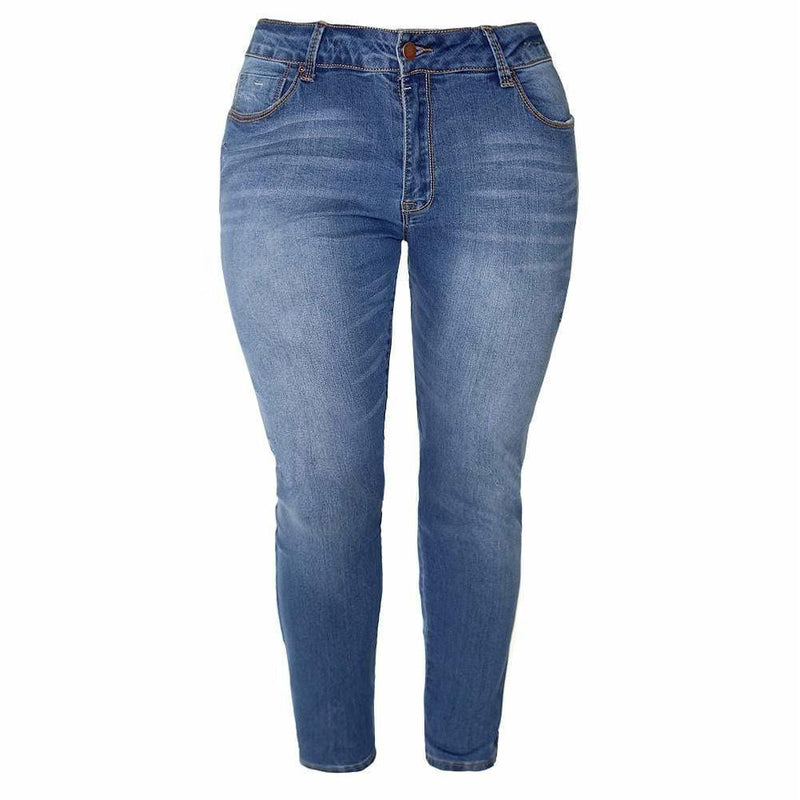 Plus Size Super Soft Sanded Jeans, Medium Wash