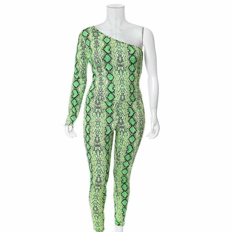 Plus Size Snake Skin Leggings, Neon Green