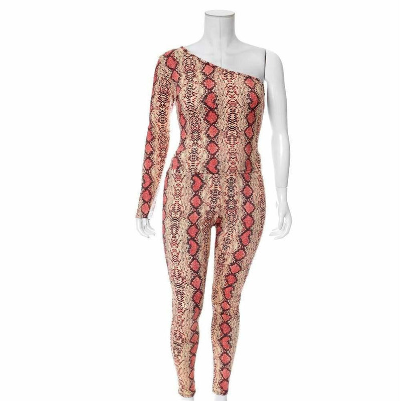 Plus Size Snake Skin Leggings, Salmon Pink