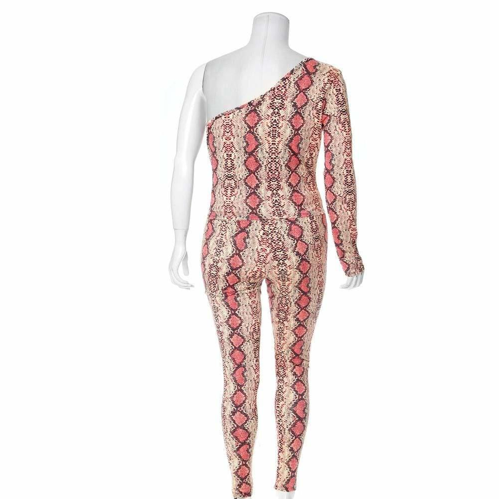 Posh Shoppe: Plus Size Snake Skin Leggings, Salmon Pink Bottoms