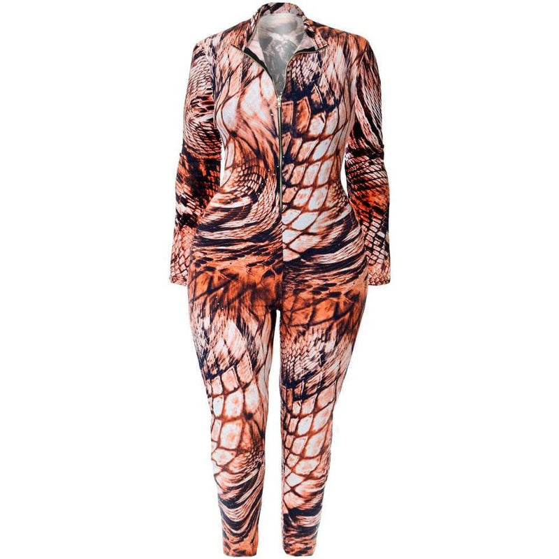 Plus Size Animal Print Harem Pants
