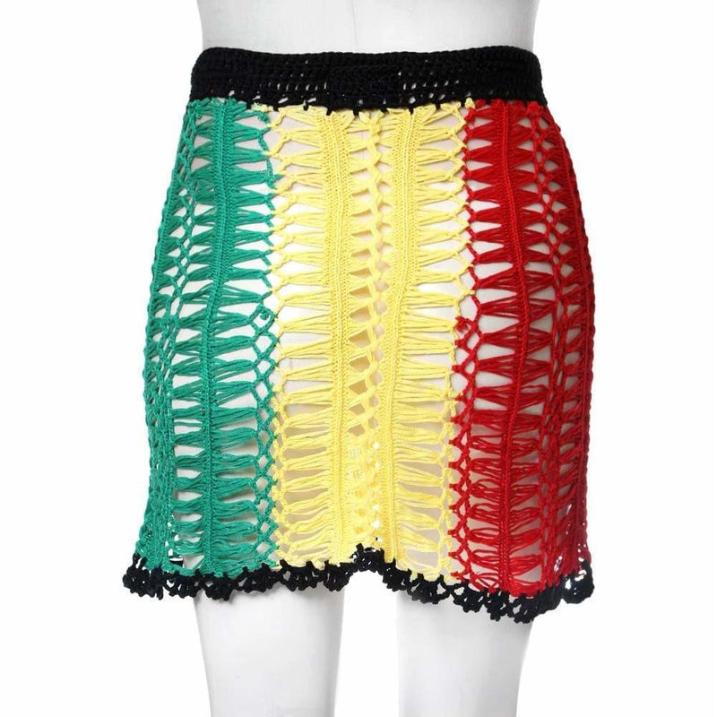 Plus Size Crochet Skirt