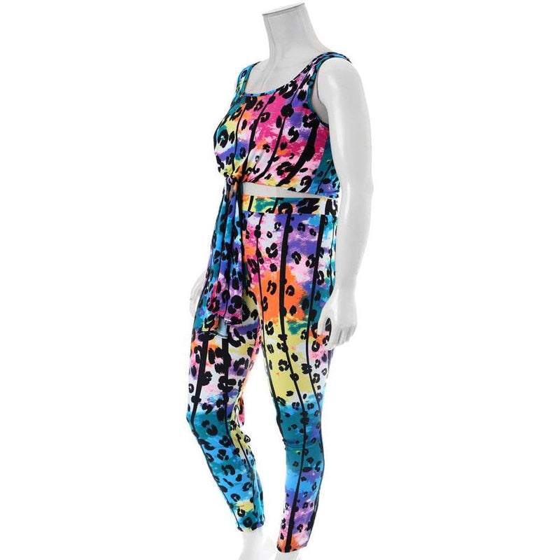 Plus Size Printed Tank and Leggings Coordinated Set