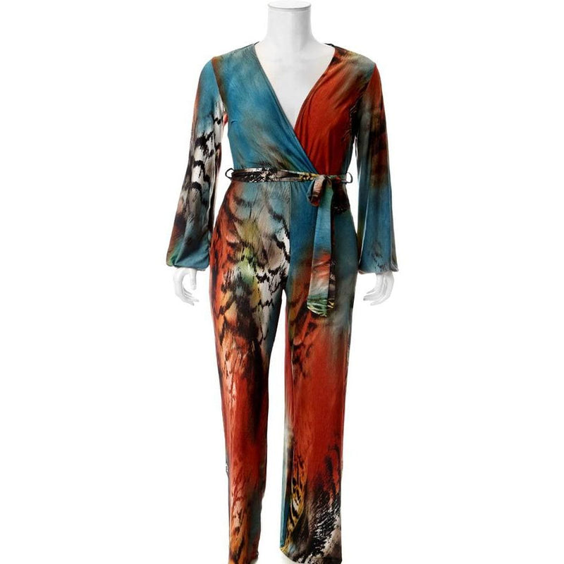 Posh Shoppe: Plus Size Ombre Animal Print Jumpsuit Bottoms