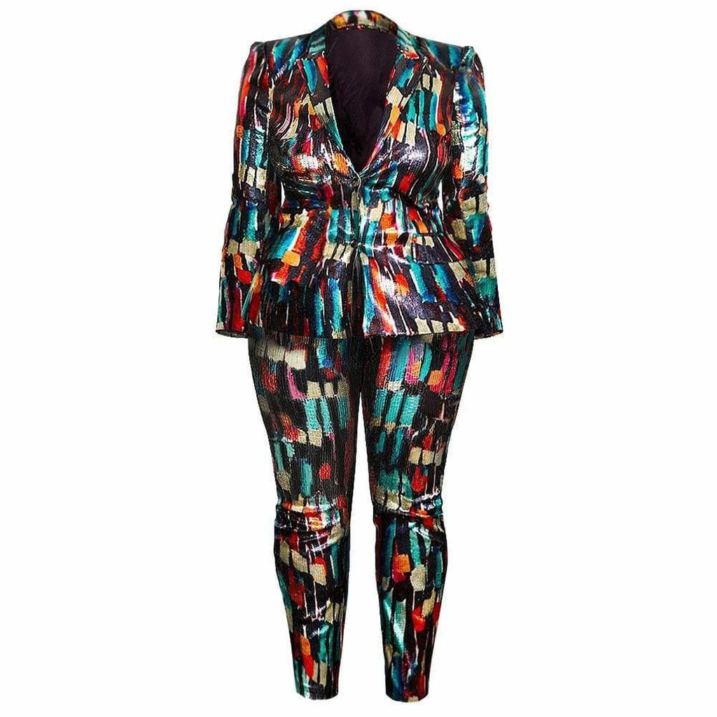 Plus Size Ultra Luxe Sequin Suit Set