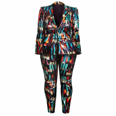 Posh Shoppe: Plus Size Ultra Luxe Sequin Suit Set Bottoms