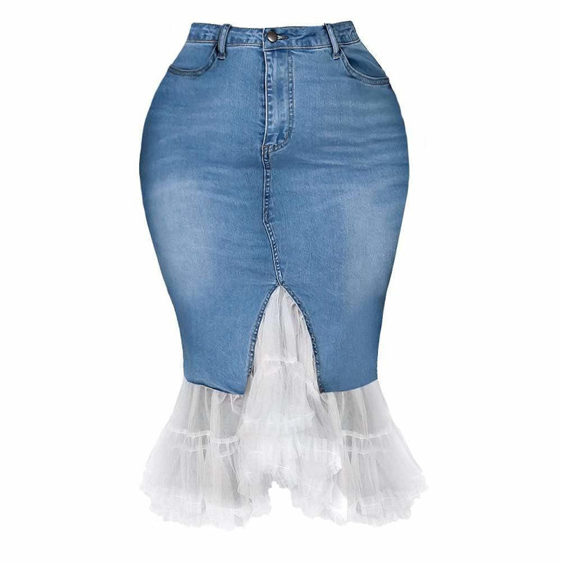 Plus Size Cropped Cuff Distressed Jeans, Light Wash