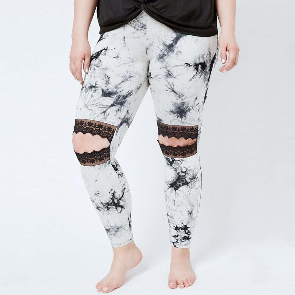 Posh Shoppe: Plus Size Lace Cut Out Leggings, Tie Dye Bottoms