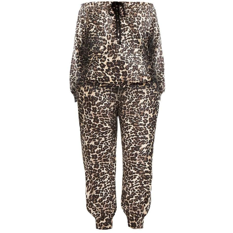 Plus Size Animal Print Joggers and Top Set