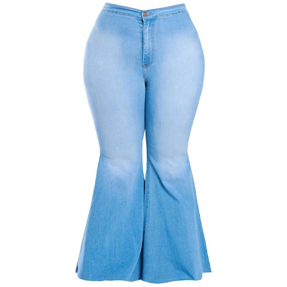 Plus Size Extra Flared Jeans, Light Wash