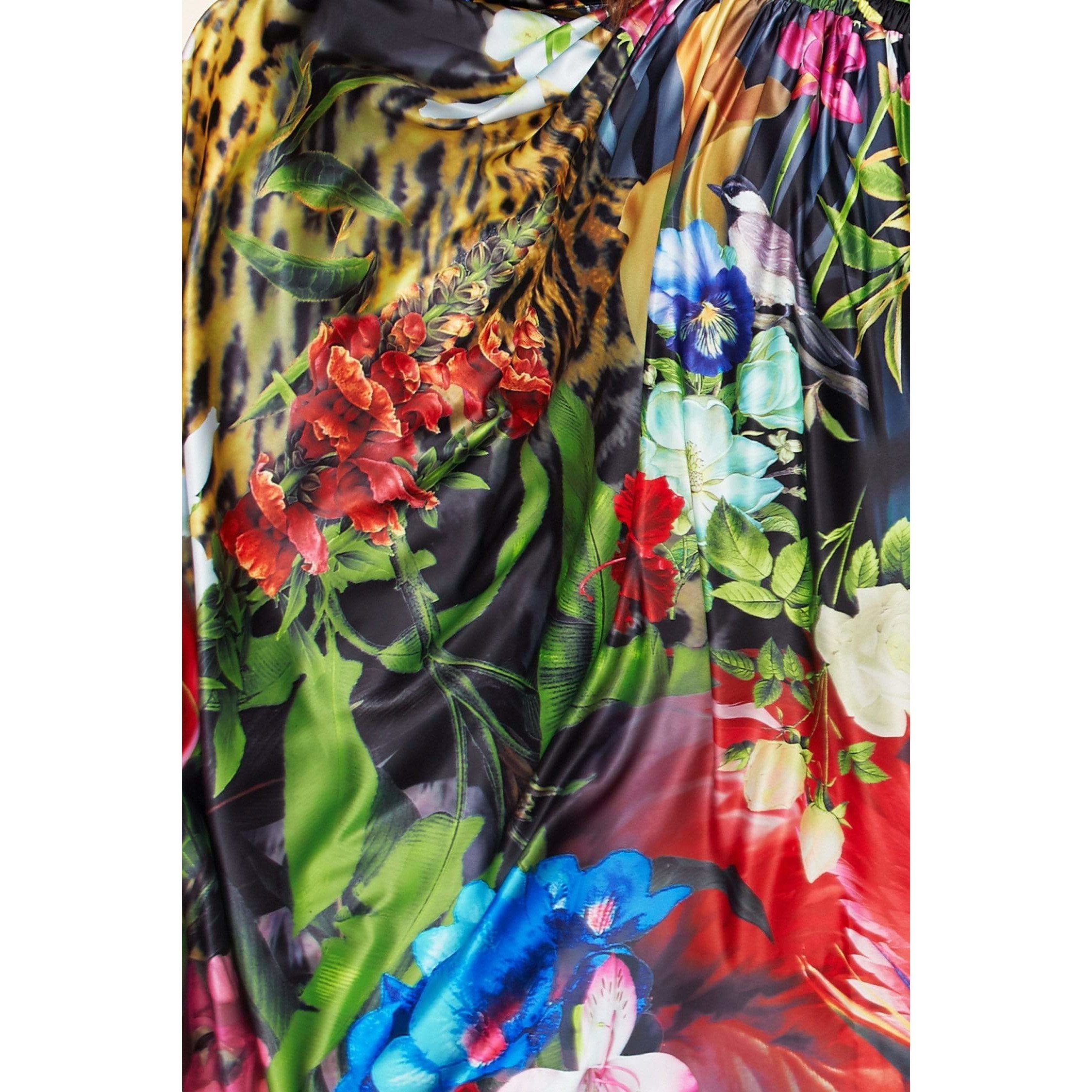 Wilderness Allure Print Jacket with Maxi Skirt