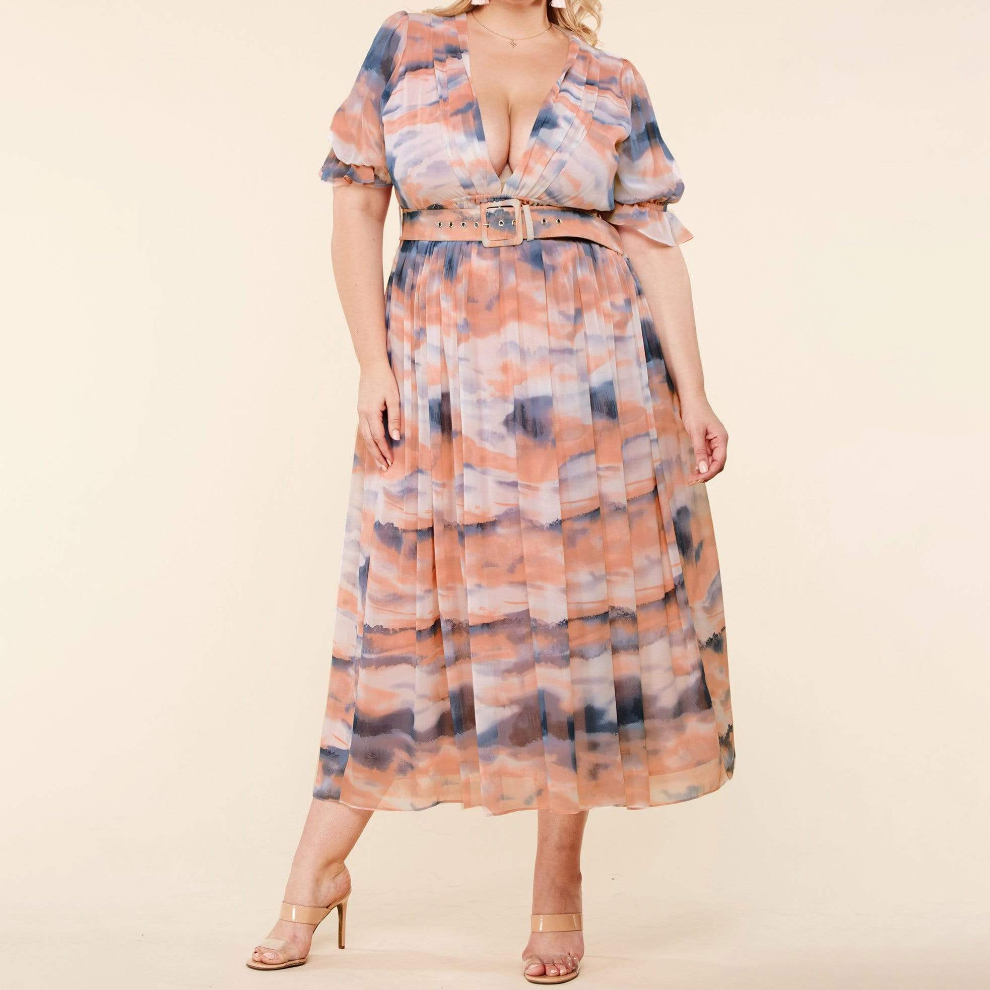 Dipped In Heavenly Dyes Maxi Dress