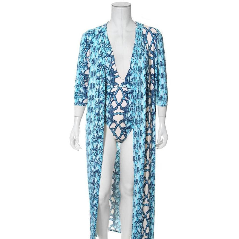 Posh Shoppe: Plus Size Resort 2 Piece Set, Snake Print Seasonal