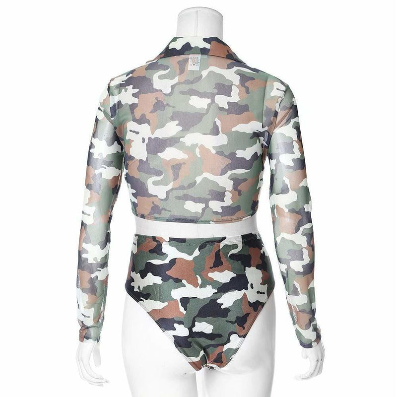 Posh Shoppe: Plus Size Camo Print Resort Set Seasonal