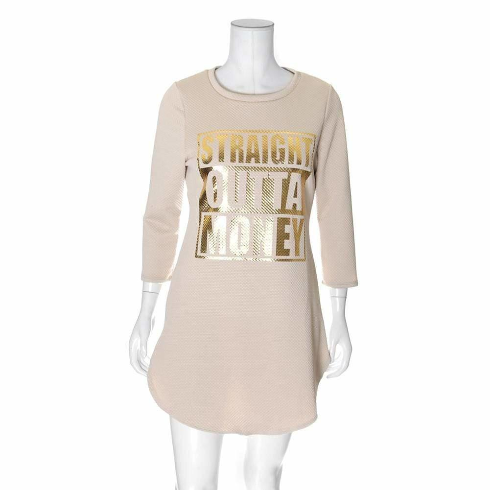 Posh Shoppe: Plus Size Quilted Sweatshirt Top, Beige Tops