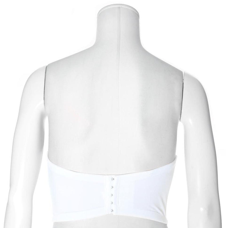 Posh Shoppe: Plus Size Embellished Corset Top, Pearls on White Tops