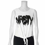 Plus Size Front Knot Tank, 'NASTY'
