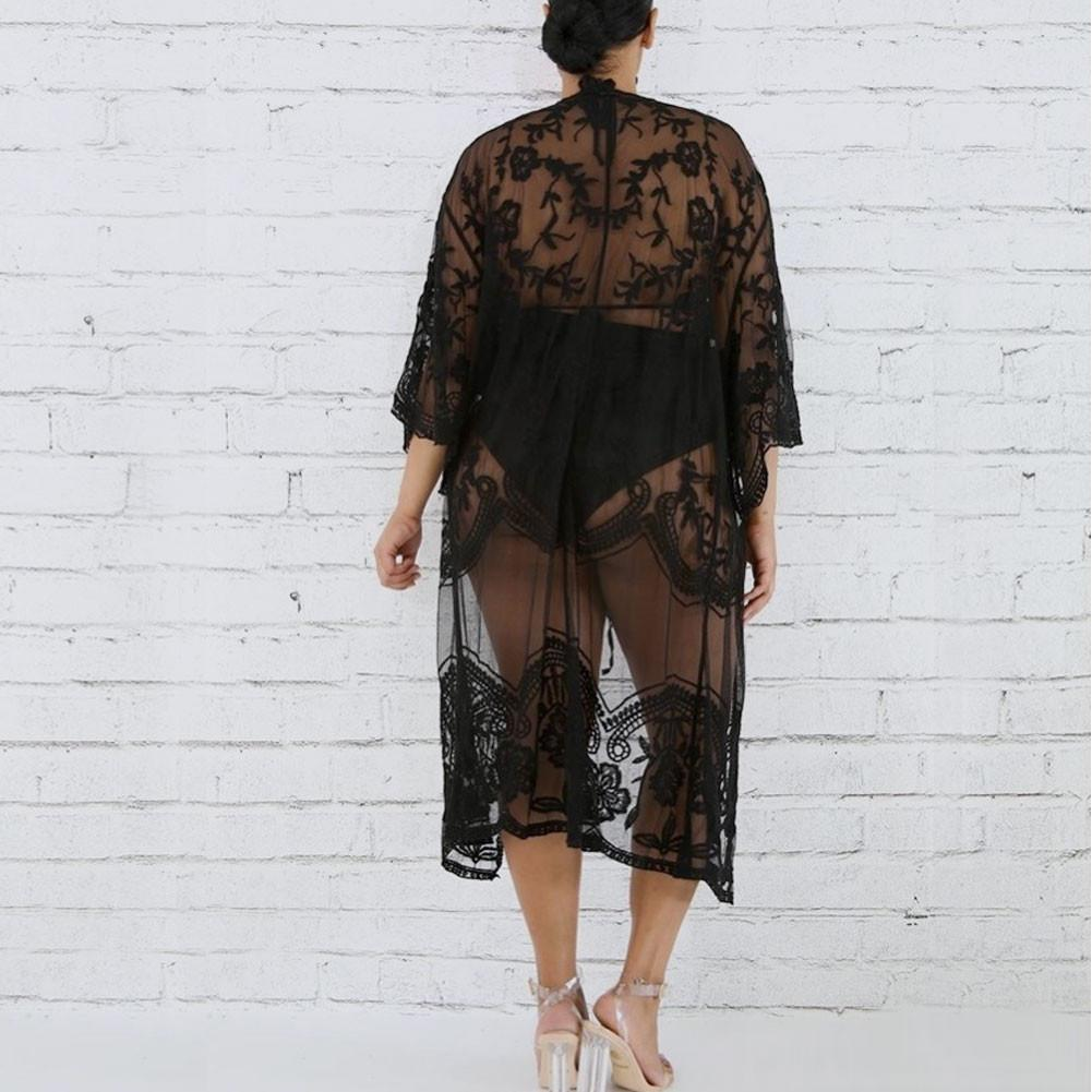 Posh Shoppe: Plus Size Lace Kimono, White Tops