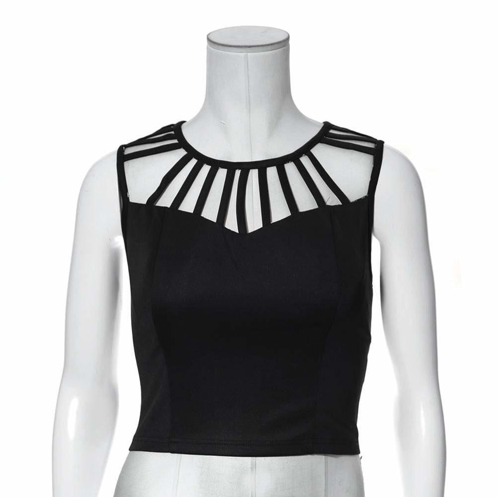 Posh Shoppe: Plus Size Caged Bustier Top Tops