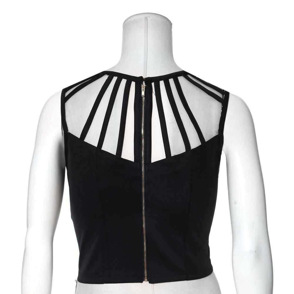 Plus Size Caged Bustier Top