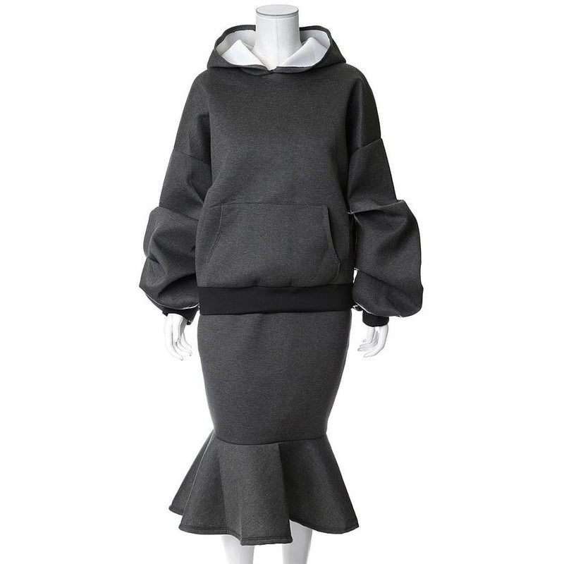 Plus Size Oversized Hoodie, Charcoal Gray