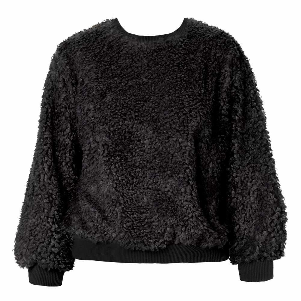 Plus Size Wooly Sweatshirt, Black