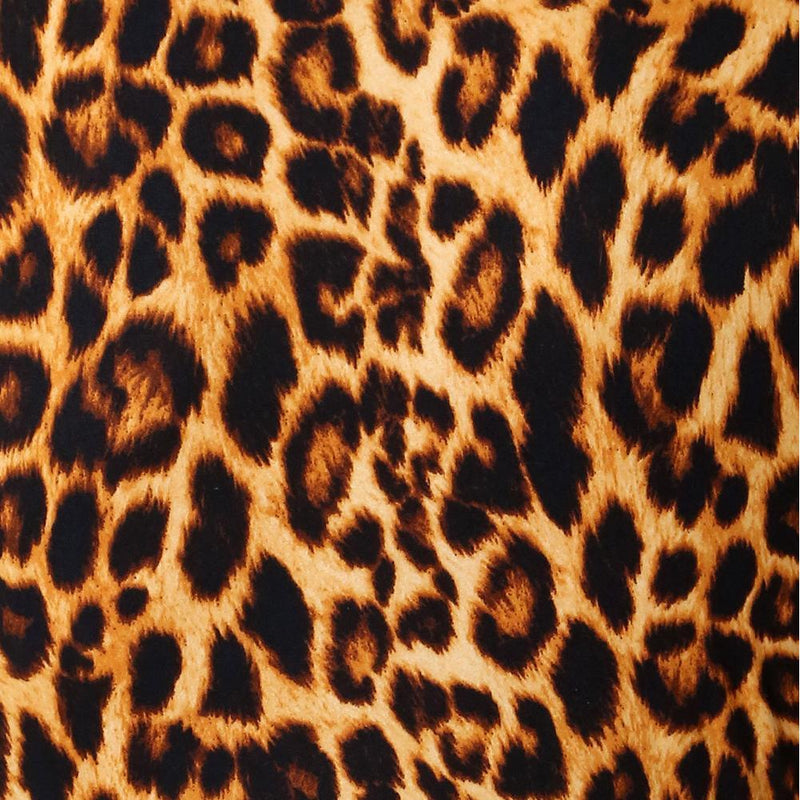 Plus Size Long Sleeve Bodysuit, Animal Print