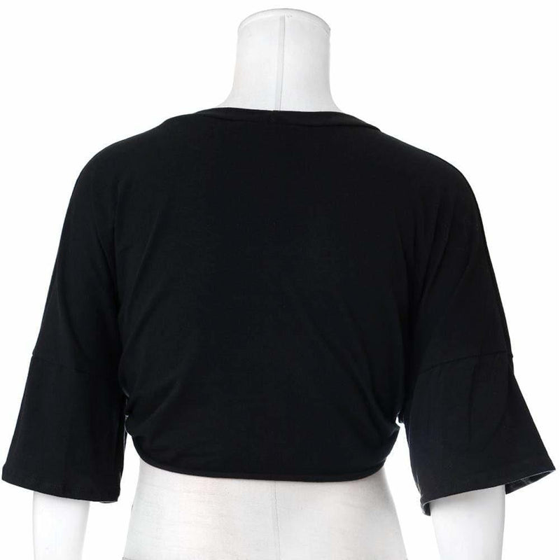 Posh Shoppe: Plus Size 'GRLPWR' Terry Tee, Black Tops
